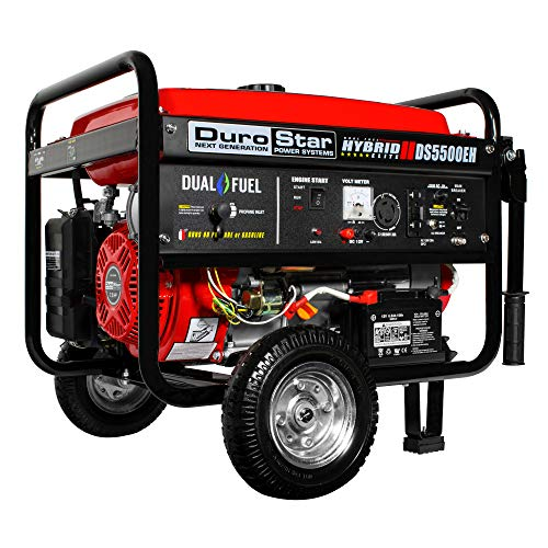 Durostar Ds5500eh 5500 Watt Electric Start Dual Fuel Hybrid Portable Generator